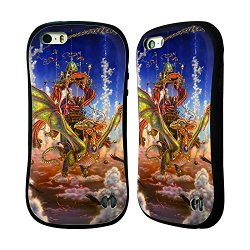 Ufficiale Myles Pinkney Drago 4 Fantasy Case Ibrida per Apple iPhone 5 / 5s / SE Drago 2