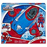 Playskool Heroes Marvel Super Hero Adventures - Jet QG Spider-Man et figurine 12,5cm...