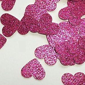 Glitter Papier Konfetti Herzen Rosa (handgemacht Konfetti)