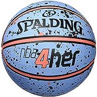 Spalding NBA Balón de Baloncesto, Mujer, Azul/Naranja, 6
