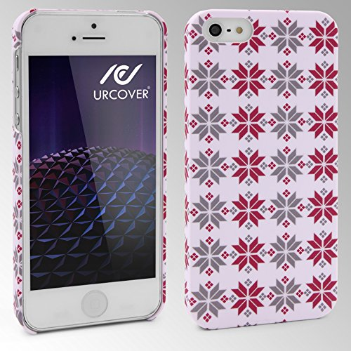 Urcover® Colorful Edition Hülle | Apple iPhone SE / 5 / 5s 4 Zoll | Kunststoff Stars Design | Trendy Zubehör Tasche Back-Case Handy-Cover Schutz-Hülle Schale Abstract Stars