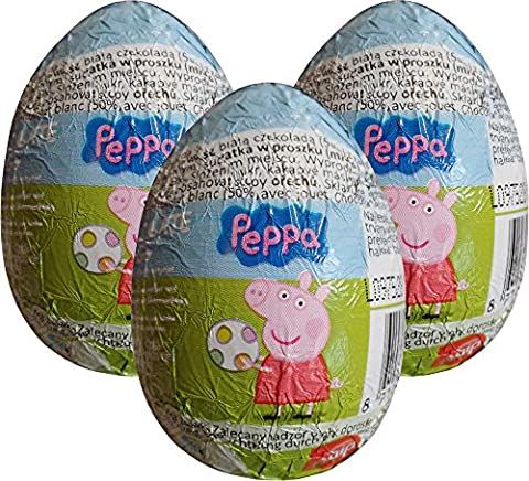 Peppa Pig Egg chocolat Surprise (pack de 3)