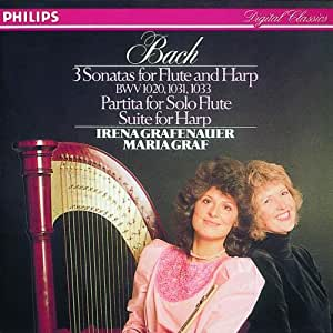 Bach: Three Sonatas for Flute and Harp
