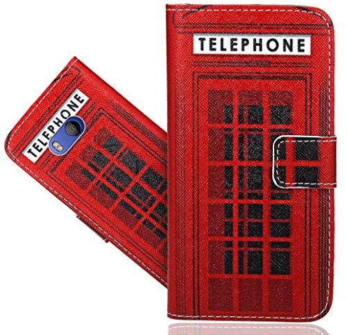 Preisvergleich Produktbild HTC U11 / HTC Ocean Handy Tasche, FoneExpert® Wallet Case Flip Cover Hüllen Etui Hülle Ledertasche Lederhülle Schutzhülle Für HTC U11 / HTC Ocean