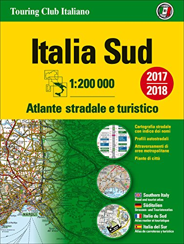 Atlante stradale Italia Sud 1:200.000. Ediz. multilingue