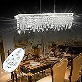 VINGO® 24W Esstisch Hängelampe Esstisch Leuchte Deckenleuchte Lüster LED Pendel Hänge Lampe Modern Stufenlos Matt