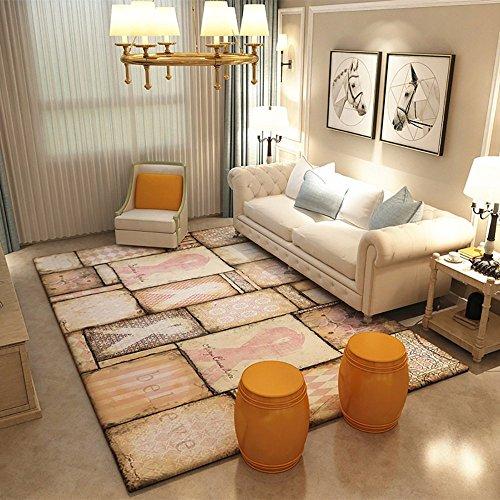 LongYu Teppich Teppich minimalistische abstrakte Moderne Geometrie Polyester Freizeit Wohnzimmer Schlafzimmer Matten Schlafzimmer Stitching Muster (Size : 140 * 200CM, Style : H-1) -