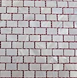 Perlmutt Mosaik Fliesen Fluss Bett natur Pearl Shell Mosaik Rectanguler Brick weiß tiles15* 25mm