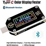 Innovateking-EU typ-C USB-testare multimeter bluetooth amperemeter voltmeter 0,6 tum IPS färg LCD-display 2-vägs digital strö
