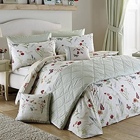 Country Journal Floral Bedding Duvet Cover 2 Pillowcase Set, Multi
