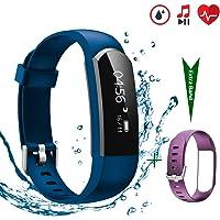 CHEREEKI Fitness Tracker [Verbesserte Version] mit Herzfrequenzmesser, IP67 Wasserdicht Aktivitätstracker Sport Uhr Schrittzähler