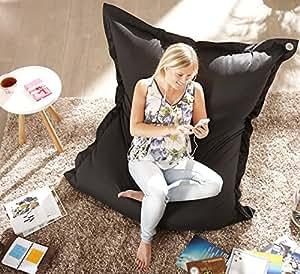 Pouf deluxe - 130 x 170 cm-couleur :  noir