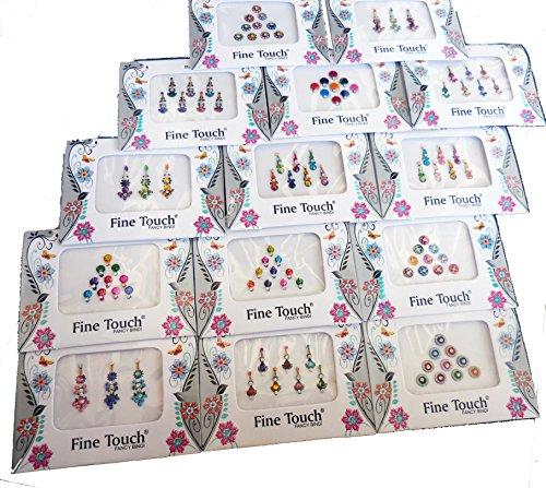50 Bindi Packets - Wholesale Bindis Indian Bindi Stickers Multicolored Bindi face jewels Indian - 50 Cent En Kostüm