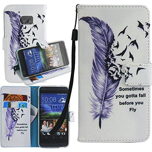 Dooki, HTC 10 Hülle, PU Leder Ständer Brieftasche Flip Abdeckung Tasche Schutzhülle für HTC One M10 mit Kredit Kartenhalter Schlitz