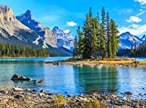 VLIES Fototapete SPIRIT ISLAND MALIGNE LAKE-(384vp)-350x260 cm in 7 BAHNEN 50 cm B.x260 cm H. -Digitaldruck! Spezialkleber für Vliestapete!- Non Woven Wall XXL Phototapete Foto Mural Photo Bildtapete Fotomural City Insel Meer Pferd Skyline Steine Strand Wald