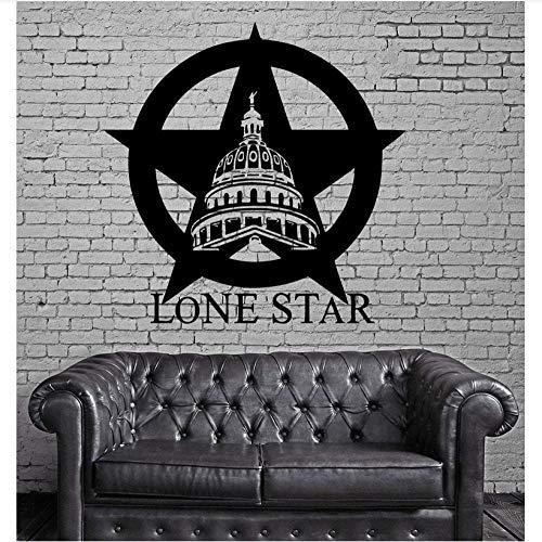 Kreative wand Texas Lone Star Cowboy State USA Karte Dekoration Wandbild Vinyl Kunst Aufkleber Wohnzimmer Schlafzimmer Wohnkultur -