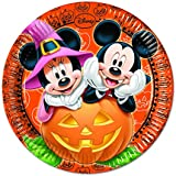 Pappteller für Halloween-Partys, Disney-Motiv Micky Maus, 23cm, 8Stück