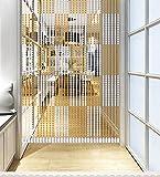 LIQICAI Türvorhang Wulstvorhang Divider Kristall für Raum Hochzeit Party Club Schaufenster, L 120CM, 5 Farben erhältlich (Farbe : Bernstein, Größe : 60 * 120cm)