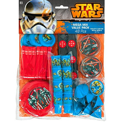 Amscan Star Wars Rebels Birthday Party Mega Mix Assorted Favor Kit , 11 X 9, Red by Amscan