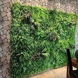 Ymwenj Fleur Artificielle Mur De La Plante Végétale Mur De Fond Simulation De La Pelouse Eucalyptus Pelouse en Plastique Milan @ Pelouse D'Eucalyptus Ordinaire