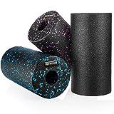 Proworks Faszienrolle aus Schaumstoff inkl. Booklet zur Triggerpunkt Selbstmassage - Massagerolle gegen Muskelschmerzen & Verspannungen - Foam Roller für Yoga & Pilates - Schwarz & Blau