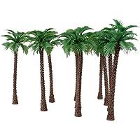 10pcs Model Coconut Palm Trees 1/100 11cm