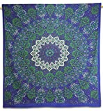 Mandala Indian Wall Hanging Cotton Tapestry Queen Purple Decor Throw 92X82 Inches