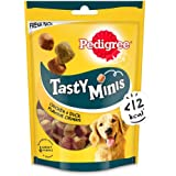 Pedigree Tasty Minis Cubes Adult Dog Treat, Chicken & Duck Flavour Chunks - 130 g Pack (296768)