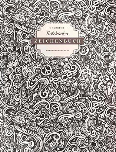 DÉKOKIND Zeichenbuch | DIN A4, 122 Seiten, Register, Vintage Softcover | Dickes Blanko-Notizbuch...
