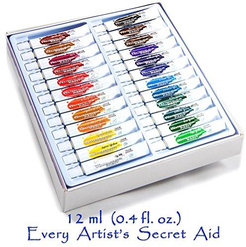 Daveliou Wasserfaben-Set, 12 ml x 24 Wasserfarbtuben, ungiftig