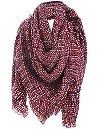 GreatestPAK Écharpe de femmes, écharpes longues de cou de châle de laine de  cachemire de f506a393e41