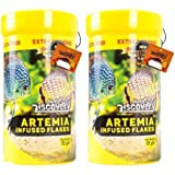 Artemia Infused Flakes/Premium Flakes/FREEZED Artemia Mixed/Suitable for Baby Fishes and JUST Born Fishes Fish Food (55g) Pac