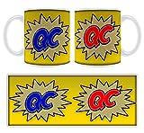 QC Bande dessinée Art Mug personnalisable