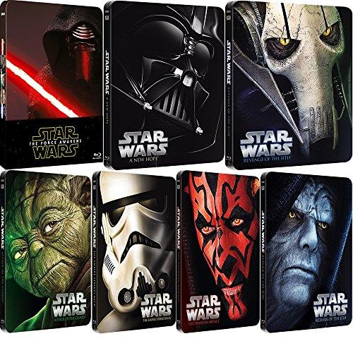 Star Wars Episodes I - VII Complete Steelbook Collection Blu-ray