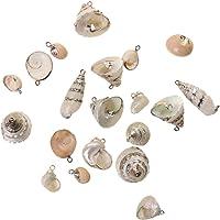 Phenovo Conchiglia Shell del Mare Spiaggia Pendenti Ciondolo Perle per Artigianato Gioielli Fai da Te