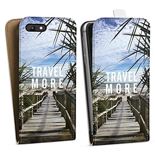 Apple iPhone X Silikon Hülle Case Schutzhülle Reise Sommer Sprüche Downflip Tasche weiß