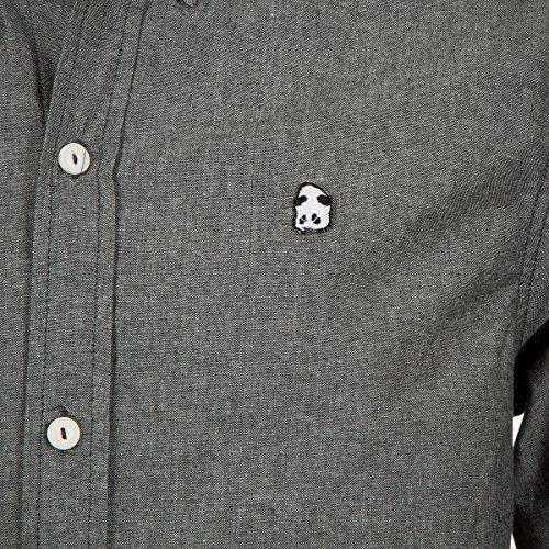 Pappa Collar L/S WOVEN TOP, nero, S nero