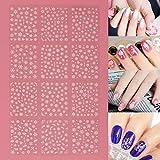 Frcolor 12 Blätter 3D Nail Sticker, Weihnachten Schneeflocke Nail art Aufkleber Nail art Scheiben Glitters DIY Dekorationen