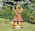 Dekorative Windmühle mit Solar rot Typ 4 von Holzdekoladen bei Du und dein Garten