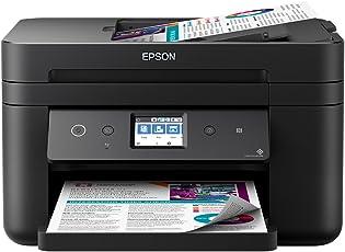 Epson WorkForce WF-2860DWF Tintenstrahl-Multifunktionsgerät Drucker (Scannen, Kopieren, Fax, ADF, WiFi, Ethernet, NFC, Duplex, Einzelpatronen, DIN A4) schwarz