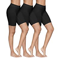 YADIFEN 3 Paquet Short sous Robe Femme Culotte Taille Haute Short de Yoga Longue Legging Cyclisme Doux Anti-Chafing…