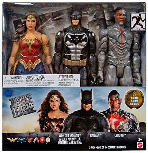 Justice League DC FHM09 Tactical Anzug Batman, Cyborg, und Wonder Woman Sind Sehr detailliert 30,5 cm Deluxe Figuren .