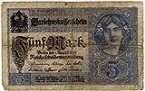 Banknoten Darlehenskassenschein 5 Mark, Deutsches Reich, 1917, Nr. G.10575337