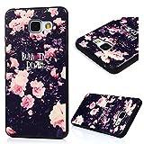 BADALink Hülle für Samsung Galaxy A5 2016 TPU Schutz Hartschale Dünnes Hard Case Silikon Hülle Schutzhülle Cover Mit Blumen Haut lackiert Muster
