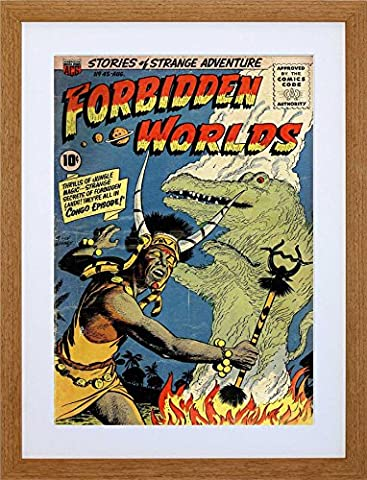 SUPER HERO COVER ACG BOOK FORBIDDEN WORLDS 45 VINTAGE COMIC FRAMED ART PRINT PICTURE MOUNT F12X1138