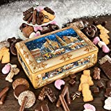 Mittelalterliches Treiben auf dem Weihnachtsmark in Nürnberg schmückt diese hochwertige Truhe.