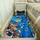DXG&FX Bereichswolldecke 3d druck und färben von teppichen schlafzimmer floor bequeme mat nicht-slip waschbar-I 80x160cm(31x63inch)