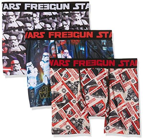 Star Wars Herren Boxershorts Freegun, 3er Pack Mehrfarbig (MULTICOLOR A16)