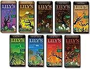 Lily's Chocolate Sampler 9 Pack (1 of each),(Original, Coconut, Crispy Rice,Almond, Creamy Milk,Salted Alm