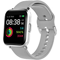 Smartwatch, YONMIG Fitness Tracker 18 Sportmodi 1.3 Zoll Touch-Farbdisplay Smart Watch Pulsoximeter Pulsuhr IP68/ 5ATM…
